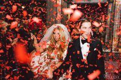 An Ultra-Stylish New Year's Eve Wedding. Photography by: Purple Tree Photography  Follow @FSToronto for more wedding inspiration! #Wedding #TorontoWedding #NYEWedding #AriaBallroom #FSWeddings #FourSeasons #Toronto