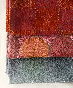 Buy cant stitched silk scarves like this at the Silk Road Gallery in Sheffield http://bringingitallbackhome.co.uk