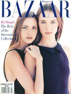 Nadja Auermann & Cecilia Chancellor | Photography by Patrick Demarchelier | For Harper's Bazaar Magazine US | March 1993