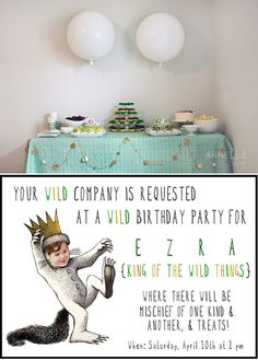 Darling Where The Wild Things Are birthday party.