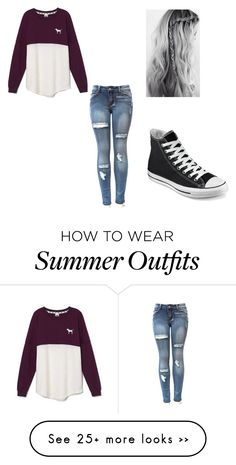 """casual winter outfit ❄⛄"" by jillianschauer on Polyvore featuring moda, Victoria's Secret y Converse"
