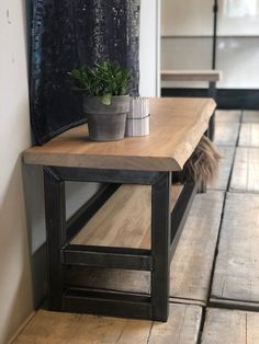 🌟 💖 🌟 💖 TV stand Wood and Steel Tree-oak Metal Furniture, Furniture Design, Industrial Shoe Rack, Wall Shelf Decor, Wooden Projects, New Living Room, Wood Pallets, Home Accessories, Entryway Tables