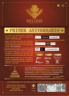 Melodie Boutique celebra su primer aniversario. ¡Felicidades!