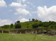 The largest man made structure by volume ever created on Earth.  The Cholula Pyramid