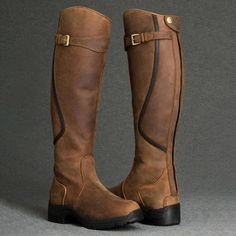 Beauty and function combined into the perfect all purpose winter riding boot Low Heel Boots, Flat Boots, Low Heels, Heeled Boots, Shoe Boots, Shoes Sandals, Barn Boots, Horse Riding Boots, Horse Tack