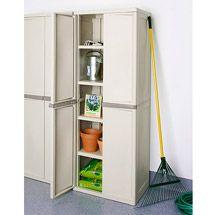 Walmart: Sterilite 4-Shelf Utility Storage Cabinet, Putty 01428501