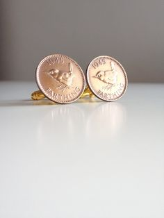 1945 Coin Cufflinks British 1945 farthing by MyFayreFavourite