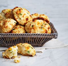 Apple Cheddar Drop Biscuits