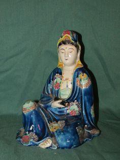 Antique Oriental Female Porcelain Figure Japanese Kutani