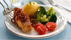 Seibiff med l& Seafood Recipes, Broccoli, Mashed Potatoes, Meat, Chicken, Dinner, Vegetables, Healthy, Ethnic Recipes