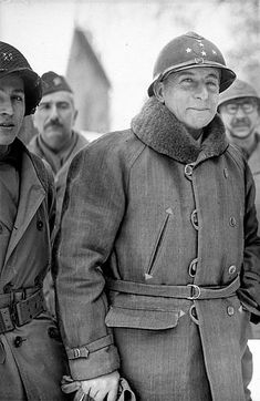 War 1939-1945. General de Lattre de Tassigny (1889-1952) during the campaign of Alsace. The beginning of 1945. Pin by Paolo Marzioli