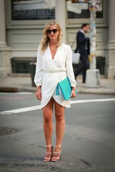 Little White Dress - Leather and Leops
