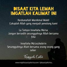Image may contain: one or more people and text Islamic Quotes Wallpaper, Islamic Love Quotes, Islamic Inspirational Quotes, Muslim Quotes, Hijrah Islam, Doa Islam, Reminder Quotes, Self Reminder, Sabar Quotes