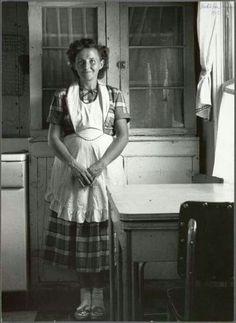 Vintage photo, farmer's wife.