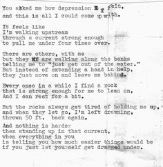 I Love Someone with Depression | life depressed depression sad suicidal suicide quotes alone ask crying