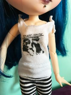 Sonic Youth Tank Top T-Shirt for Blythe by deargirlface on Etsy https://www.etsy.com/listing/491279249/sonic-youth-tank-top-t-shirt-for-blythe