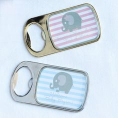 Personalized Baby Themed Bottle Openers with Epoxy Dome by Beau-coup