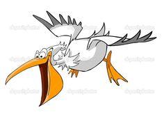 pelican cartoon flying - Google Search