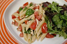 Cold Pasta with Tomato, Fresh Basil and Ricotta Salata