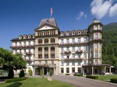 Lindner Grand Hotel Beau Rivage in der Schweiz. Holidays To Switzerland, Rivage, Grand Hotel, Best Hotels, Mansions, House Styles, World, Home, Switzerland