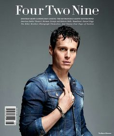 Jonathan Groff, on the cover of four two nine magazine, 2015.