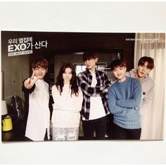 K-POP EXO x Line Naver Web Drama EXO Next Door Official Post Card Limited ver 3