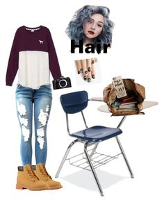 """""""School coming soon HELP ME"""" by skylar1019 on Polyvore featuring Victoria's Secret, Timberland, Casetify, Olympus and alfa.K"""