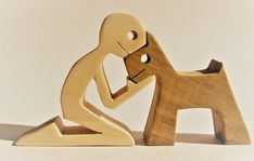 Un enfant un chien version 2 sculpture bois chantournée Scroll Saw Patterns, Wooden Art, Wooden Puzzles, Wood Toys, Diy Wood Projects, Wood Sculpture, Woodworking Crafts, Wood Carving, Etsy