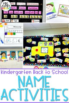 When heading back to school in the kindergarten classroom, you will want to start the year with simple activities. These kindergarten name activities would be a great solution! Plus, they can be used to make a great back to school bulletin board!