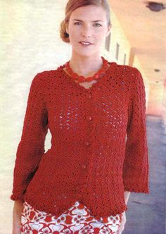 Red Jacket free crochet pattern