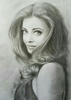 Pencil Sketch Portrait, Pencil Sketch Drawing, Girl Drawing Sketches, Portrait Sketches, Portrait Paintings, Beautiful Pencil Sketches, Pencil Drawings Of Girls, Celebrity Drawings, Realistic Drawings