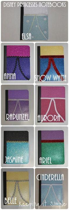 DIY Disney Princesses Notebooks • Keeping it Simple Crafts