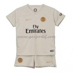 Paris Saint Germain PSG maillot de foot enfant 2018-19 maillot extérieur Psg, Maillot Paris Saint Germain, Football Tops, Soccer Kits, Kids Suits, Team Gear, Jersey Shirt, Sportswear