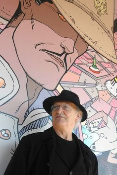"""JEAN """"MOEBIUS"""" GIRAUD ~ held so much artistic influence over so many things/artists I fell in love with. The Fifth Element, Naussica, Tron, Dragonball, Die Aantwoord, Neil Gaiman, Alien, Akira, The Silver Surfer, Little Nemo, Heavy Metal, Heman / Masters of the Universe, Willow, Star Wars Episode V, & Panzer Dragoon #RIP"""