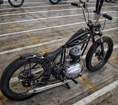 Moped Bike, Bobber Bikes, Bobber Motorcycle, Bobber Chopper, Triumph Motorcycles, Cool Motorcycles, Vintage Motorcycles, Vespa Vintage, Vintage Bikes