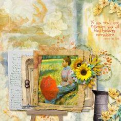 Sunflowers by ViVa Artistry. https://www.oscraps.com/shop/Sunflowers.html