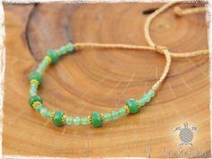 Royal Women Bracelet Anklet Macrame Emerald by MaKarmaCreations