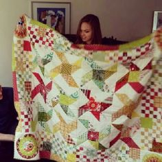colourful quilt made for Renée.  140 x 200 cm