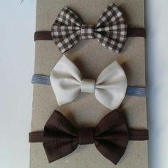 Kit-gravatas borboletas marrom/palha
