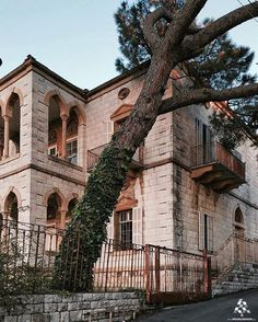 Beautiful mountain houses at Beit Meri at Beit Meri, Mont-Liban, Lebanon Ancient Buildings, Old Buildings, Beirut Lebanon, Castle House, Mountain Homes, Beautiful Sites, Traditional House, Old Houses, Modern Architecture