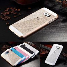 Back Cover Custodia Glitter e Brillantini Per Samsung Galaxy S6 G920F Pellicola
