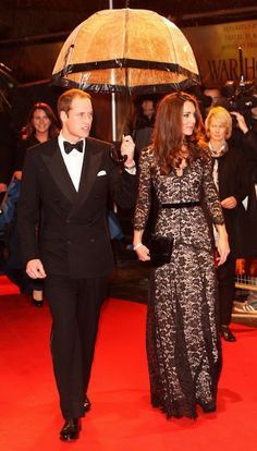 Couture Caddy | An Australian Fashion Blog: Kate Middleton Wows In Temperley Black Lace!