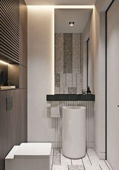 20 Home Design Simple interior design Style of the XXI century Apartment Interior Design, Bathroom Interior Design, Decor Interior Design, Interior Decorating, Kitchen Interior, Decorating Office, Nordic Interior, Interior Livingroom, Interior Lighting