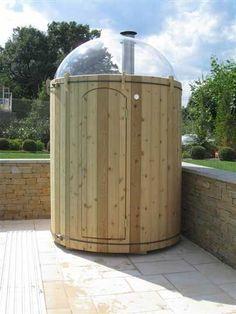 Playhouse Outdoor, Outdoor Rooms, Barrel Sauna, Tiny House Furniture, Finnish Sauna, Outdoor Sauna, Shepherds Hut, Steam Room, Cool Rooms