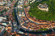 Ljubljana, staro mestno središče, Slovenia