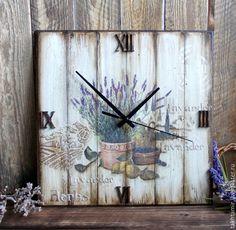 """Купить Часы """"В лавандовом Провансе"""" - часы, часы настенные, часы для дома, часы декупаж"""