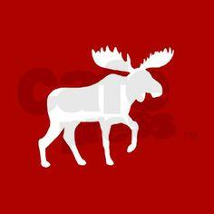 Holiday Moose Ornament on CafePress.com
