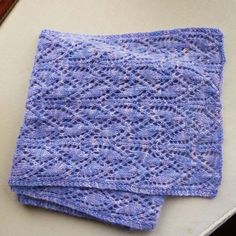Gorgeous lacy scarf made by LifeCovers using my hand-dyed pure cashmere in shade 'Skyfall' - stunning!