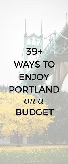 39 ways to enjoy Portland, Oregon on a budget. Portland Hikes, Weekend In Portland, Portland Restaurants, Portland City, Portland Oregon, Travel Portland, Oregon Trail, Oregon Coast, Oregon Vacation