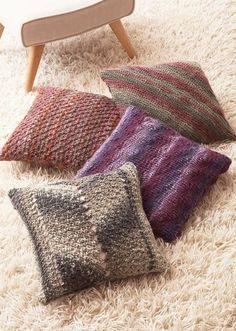 Tyyny x 4 – katso ohje ja virkkaa tai neulo ihanat tyynyt! - Kotiliesi.fi Easy Knit Baby Blanket, Make Blanket, Chunky Blanket, Knitted Baby Blankets, Warm Blankets, Chunky Crochet, Chunky Yarn, Knit Crochet, Crotchet